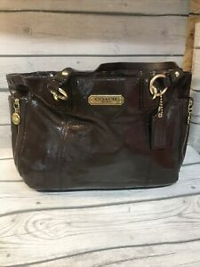 COACH Signature Brown/pink Inside Multi-function Tote Baby Bag G1261F20431