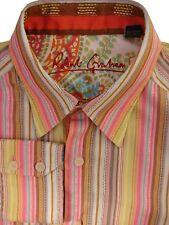 ROBERT GRAHAM Shirt Mens 15.5 M Multi-Coloured Stripes