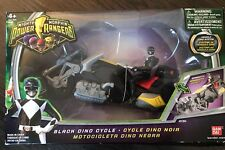 """Mighty Morphin Power Rangers Black  4"""" Power Ranger with Black Dino Cycle : 2010"""