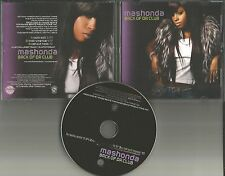 MASHONDA Back of Da Club EDIT & INSTRUMENTAL & MP3 FORMAT PROMO DJ CD Single