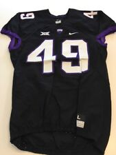 Game Worn Used Nike TCU Horned Frogs Football Jersey #49 Size L