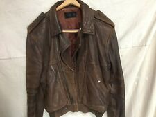chocolate brown mens leather bomber jacket