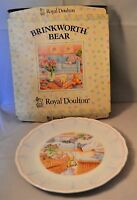 Royal Doulton Brinkworth Bear Pottery Plate in Box Annie West 1988