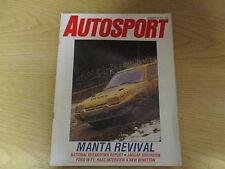 February 26th 1987, AUTOSPORT, Pentti Airikkala, Jaguar XJ6, Carl Haas