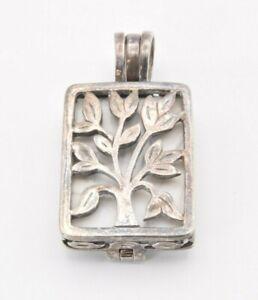 Silpada Live Laugh Love Interchangeable Tree Howlite Sterling Silver 925 Pendant