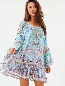 Camilla Lovers Retreat Beach Dress Cover Up Kaftan Holiday Franks Silk S M 10 12