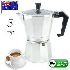 NEW 3 CUP ESPRESSO Coffee Silver Percolator Percolators Hipster Moka Stove Top