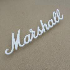 Marshall 9in white speaker cabinet logo