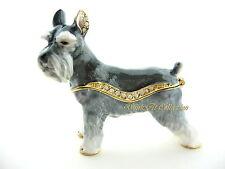 Schnauzer Dog Bejeweled Trinket Box