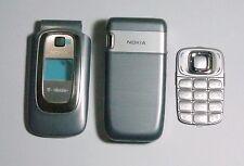 Silver Full Housing cover fascia facia faceplate case for Nokia 6085