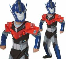 Deluxe Transformers Optimus Prime Boys Costume Superhero Fancy Dress Outfit
