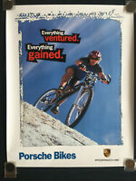 PORSCHE BIKE OFFICIAL BICYCLE SHOWROOM ADVERTISING POSTER VERY RARE NEW.