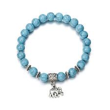 Women Vintage Elephant Pendant Bead Bracelets Boho Bangles Jewelry Gift SK