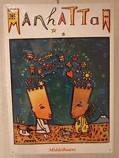 Blechschild Manhattan / Middelhauve/ Jean Christian Knaff/  48,5 x 34 cm