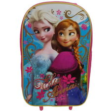 NEW OFFICIAL Disney Frozen Girls Kids Case Luggage Travel Trolley Wheeled Bag
