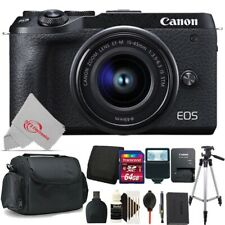 Canon EOS M6 Mark II Mirrorless Digital Camera with 15-45mm + 64GB Accessory Kit