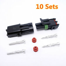 10 Sets High Quality Delphi Connector Two Pins Way Waterproof Connector For Car