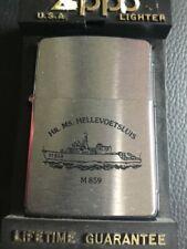 ZIPPO 1997 LIGHTER DUTCH NAVY HMS (MINESWEEPER) HR.MS HELLEVOETSLUIS M859