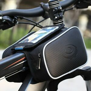 """Cycling Bicycle Front Top Tube Frame Double Bag Touch screen for 5.7"""" Cellphone"""