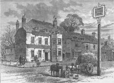 "HAMMERSMITH. The old ""Pack Horse"" inn, Turnham Green. London c1880 print"