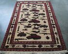 FABULOUS HAND MADE AFGHAN RUG HAND KNOTTED WAR AGAINST TERRORISM