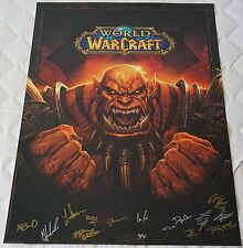 Blizzcon 2013 Official WoW Warlords of Draenor Signed Poster