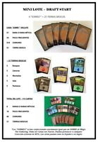 "MINI LOTE  -  DRAFT START - 6 ""SOBRES"" + 25 TIERRAS - MTG - X115 CARTAS"