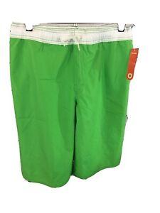 Old Navy Green & White Swim Trunks UPF 50 Boys Size XL (14-16)