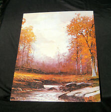 """GOLDEN AUTUMN by Robert Wood -  Large 20"""" X 16"""" Canvas Style Lithograph Country"""