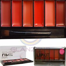 Technic Lip Kit Matte and Glossy Lipstick Pink Red Nude 6 Shades Palette Kit