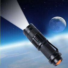 Portable Mini 2500LM Adjustable Zoomable XM-L T6 LED Flashlight Torch Focus Lamp