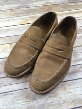 Mens Brown Leather ALLEN EDMONDS ADDISON Penny Loafers Size 9 Made In USA