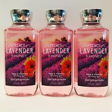 3 Bath & BODY WORKS lavande Française & Miel Gel douche Lavage 10 fl.oz 295 ML