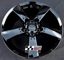 "MAZDA RX8 1x 18"" GENUINE 5 SPOKE GLOSS BLACK REFURBISHED ALLOY WHEEL S142BG"
