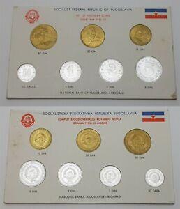 XD.041} YUGOSLAVIA 1953-1955 coins mint set