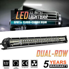 "12D Dual Row 32"" LED Light Bar 780W Driving Offroad Flood Spot Combo Beam PK 30"""