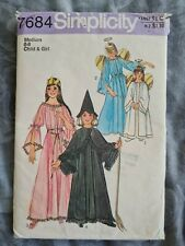 Witch Ren Dress Princess Fairy Costume Angel Simplicity 7684 Sewing Pattern