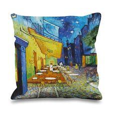 Vincent Van Gogh Cafe Terrace At Night Faux Silk 45cm x 45cm Sofa Cushion