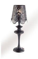 Lampe de table Dessin Fleurs Métal Noir Table de chevet luminaire lampe