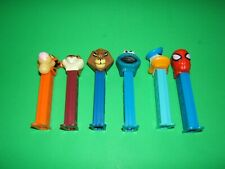 Lot of 6 PEZ Dispensers Donald Duck, Spider-Man
