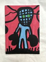 Hasworld Original Signed Painting Abstract Boxer Graffiti Neo Expressionism Art