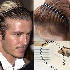 Useful Men Women Sports Wave Hair Band Unisex Metal Black Curve Hoop Headband