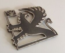 GENUINE VAUXHALL CAVALIER ASTRA CARLTON GREY METAL GRIFFIN BADGE EMBLEM LOGO