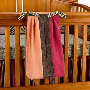 Cocalo Couture Tahiti Diaper Stacker Girl Safari Nursery Decor Brown Orange Pink