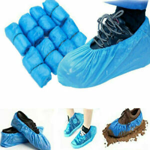 50/100Pcs Disposable Shoe Covers Plastic Cleaning Overshoe Waterproof Anti Slip