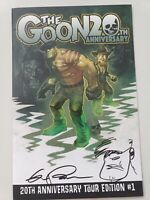 THE GOON 20TH ANNIVERSARY TOUR EDITION #1 2019 SIGNED & SKETCH ERIC POWELL COA!
