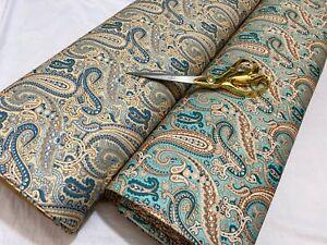 *NEW*M/Weight Stretch Jersey Paisley Prints Dress/Craft/Curtain Fabric*FREE P&P*