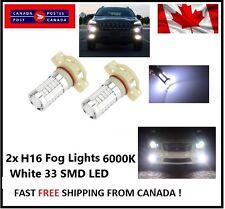 2 XH16 6000K White 5630 33 SMD LED 12V Auto Car Fog Light Headlight Bulbs Bright
