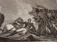 RARE Gravure GENERAL VALHUBERT BATAILLE AUSTERLITZ 1805 NAPOLEON EMPIRE 1820
