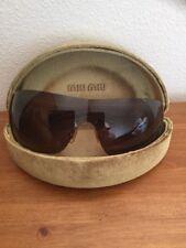 Mui Mui Brown Tortoise Shell Sun Glasses SMU11H 2AU-8C1